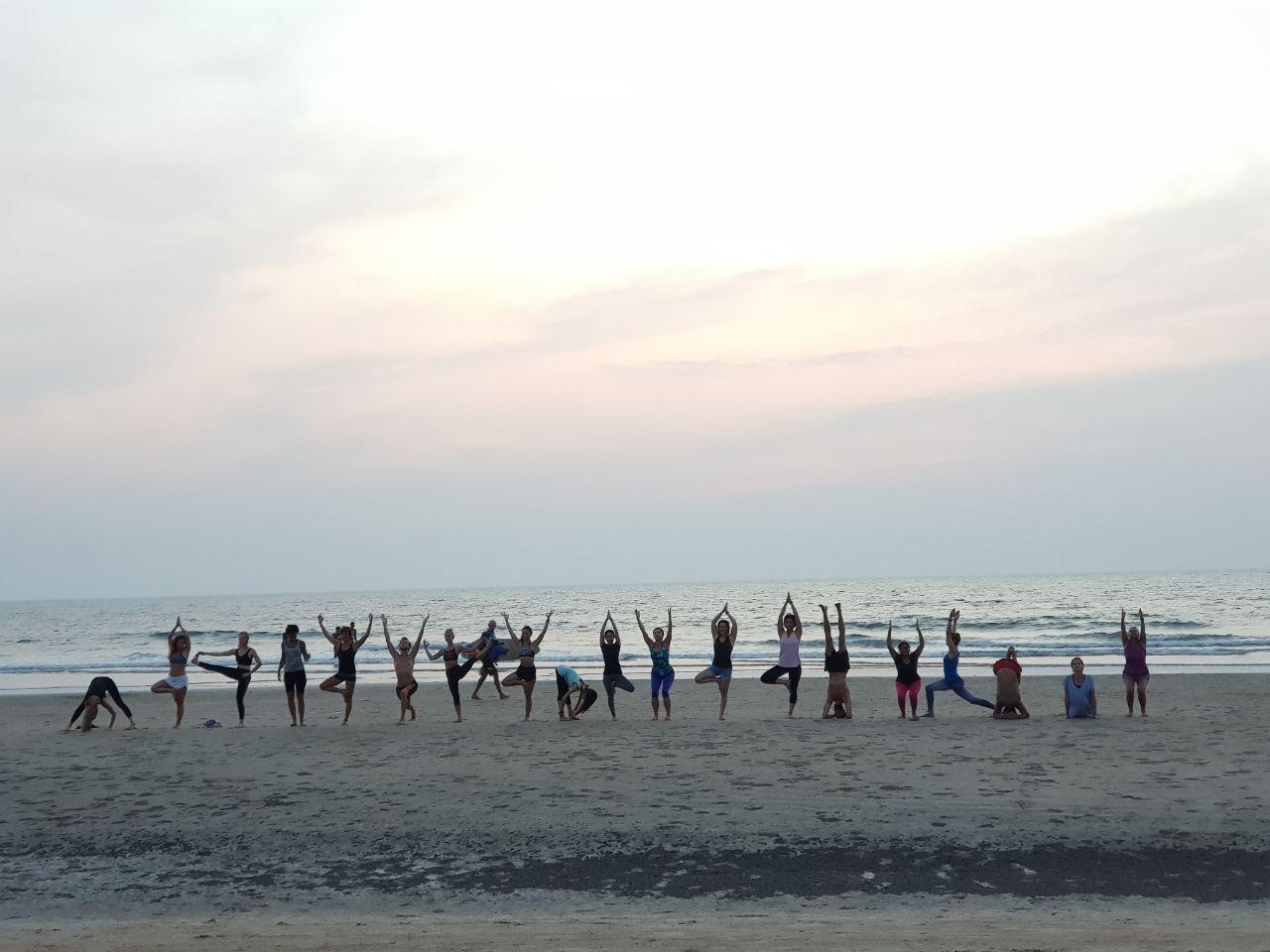 Beach Yoga in Goa